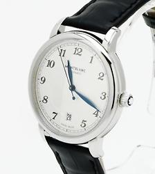 Star Legacy Automatic Date 39mm 116522 Men's Watch Silver Dial Leather