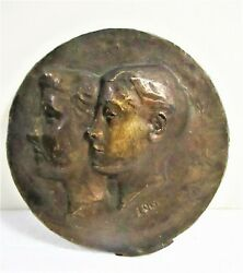 Louise Lemp Pabst Wi Artist Lemp And Pabst Beer Family Bronze Bas-relief Couple