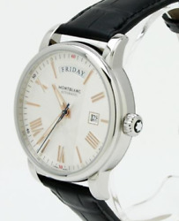 4810 Day Date 114853 Silver Men Watch Automatic Wristwatches Leather