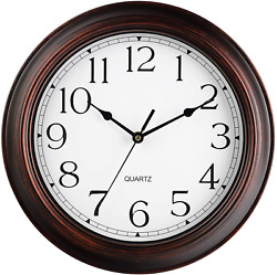 Wall Clock Battery Operated 12 Inch Silent Non Ticking Wall Clocks Vintage R