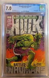Incredible Hulk Annual 1 Cgc 7.0 1968 Steranko King-size Special Iconic Cover