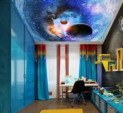 3d Starry Planet Zhu1600 Ceiling Wall Paper Wall Print Decal Wall Deco Amy
