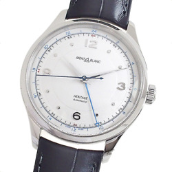 Heritage Gmt 119948 Automatic Ss Leather White 40mm Unused W/box Men
