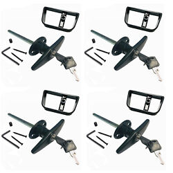 4 Sets 6 Blackt Handle Door Lock Replacement Shed Gate Whole Set 1800