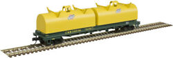 Atlas N Scale Cushion Coil Car/round Hoods Chicago And North Western/cnw 39525