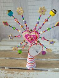 Dept 56 Glitterville Tree Topper Candy Star Candy Visions Treeditions Rare As Is