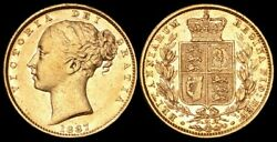 Australia 1887m Qv Young Head Shield. One Of The Key Dates. Gold Sovereign.