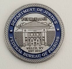 Federal Bureau Of Prisons Fci Mcdowell Wv 10 Year Anniversary Challenge Coin
