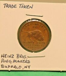 Vintage Us Trade Token Heinz Brothers Ring Makers Buffalo, Ny