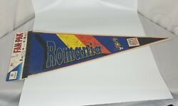 Vintage 1994 Wincraft World Cup Soccer Romania Team Signed Pennant Pre-owned