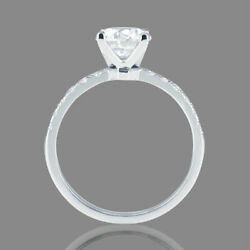 1 1/2 Ct Diamond Engagement Ring Round Cut D/vs1 18k Rose Gold Size Selectable