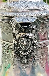 Antique Figural 950 French Cardeilhac Sterling Silver Coffee Water Pitcher 1400g