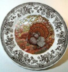 Queenand039s Majestic Beauty Turkey Dinner Plate Made In England 10 Inch Fall Decor