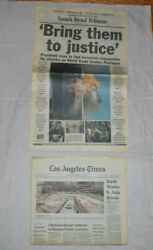 September 11 2001 Newspaper Related Information Lot Tribute Issues