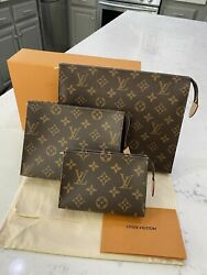 💯authentic Louis Vuitton Toiletry 15,19,and 26 Bundle‼️ All 3‼️discontinued✨wow
