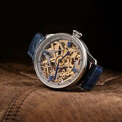 Tempus - Masonic Vintage Wristwatch Made Of Pocket Watch With Laether Strap