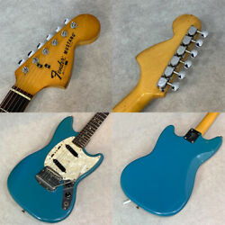 Fender 1978 Mustang Light Blue Electric Guitar With H/c Ships Safely From Japan