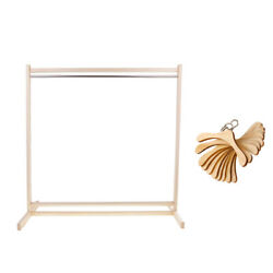 1/3 Wooden Garment Rack + 10pcs Metal Hook Clothes Hangers For Sd Doll