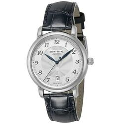 Star 117574 Automatic Date Sapphire Glass Ss Leather White 64g Men