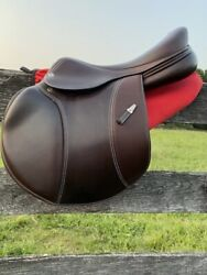 Equipe Special One Saddle 17.5 Long Forward Flap Narrow High Wither Full Calf