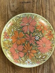 4-beverly By Prolon Rare Vintage Melmac Dinner Plates. Orange And Green