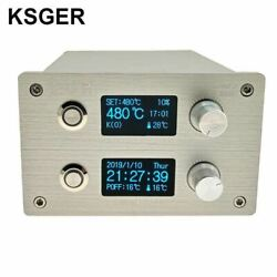 Ksger T12 Soldering Iron Station 2 In 1 Smd Hot Air Gun Soldering And Desoldering