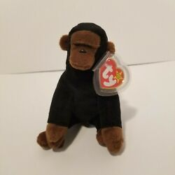 Congo Ty Beanie Baby Monkey 1996 With Errors Rare Vintage Plush Collectible