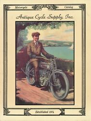 Antique Cycle Motorcycle Supply Reproduction Catalog - Parts Expanded Dwgs Etc.
