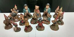 Lot Of 14 Gnomes By Tom Clark, Vintage Collectible Sculpture Figurines