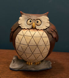 Jim Shore Owl Figurine Wise And Well Rounded 5 Tall Enesco Fall Autumn Ec