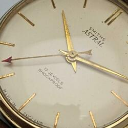 Smiths Astral Gold Plated Case Manual Analog Watch Used Vintage Antique 1960s