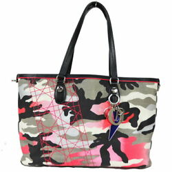 Christian Dior Anselm Lyle Tote Bag Black Pink Camouflage