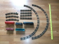 O-27 Mar-lines Model Electric Train, Cars, And Track And Engine. Made In Usa