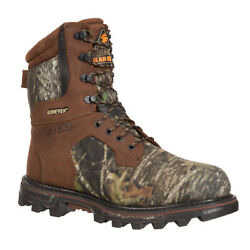 Rocky Mens Mobu Camo Leather Bearclaw 3d Insulated Goretex Hunting Boots