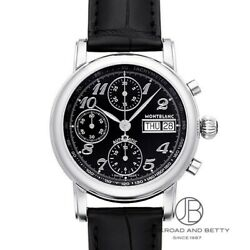 Star 8451 Chronograph Automatic Transparent Back Ss Leather New Men