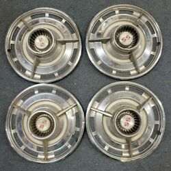 Barn Find - Chevy 63 Impala Ss Spinner Hubcap 14 Wheel Covers Set Of 4 -