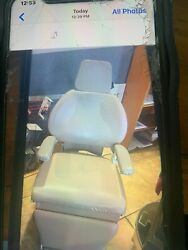 3 Medical Exam Chairs All In Working Condition. Burgundy In Color.