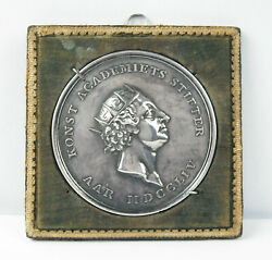 Medal Silver Denmark 1754 Academy Of Martial Arts P The / Of Giannelli Medal