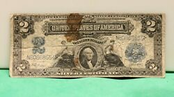 1899 2 United States Two Dollar Andldquomini Portholeandrdquo Silver Certificate Large Note
