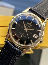 Omega Constellation Automatic Black Dial Gold Pie Pan Mens Vintage 1961 Watch