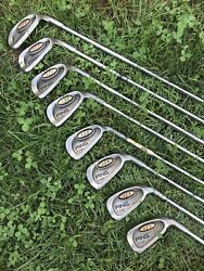 Ping I3 Irons Green Dot 0-size 3-9 Plus W Steel Shaft Golf Clubs Nice Grips