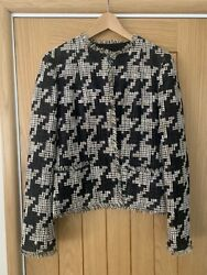 Karl Lagerfeld For Black Mix Houndstooth Tweed Jacket S/s 2005 Collection