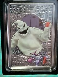 Disney Oogie Boogie Tim Burton's The Nightmare Before Christmas 1oz Silver Coin