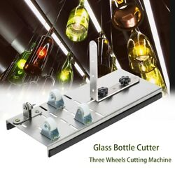 Stainless Steel Glass Bottle Cutter With 3 Wheels Wine Beer Bottle Cutting Tool