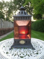 Antique Victorian Rare Wright And Butler Cheerful Oil Lamp Petroleum Stove Heater