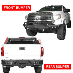 Off-road Front + Rear Step Bumper Bars Combo Assembly W/led Light Fit Tundra 14+