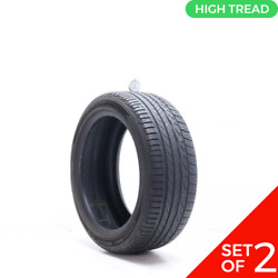 Set Of 2 Used 235/45r18 Dunlop Conquest Sport A/s 94v - 8-8.5/32