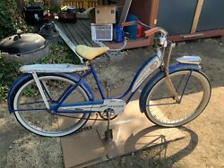Firestone Monarch 1940s Bicycle W/ Springer Forks, Tank Etc .classic Cruiser