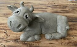 Quarry Critters Charity The Cow Second Nature Design 2000 Rare Extra Large Read