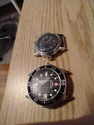 Junk Swiss Watches For Parts, Swiss Military And Chalet Diver, No Movements